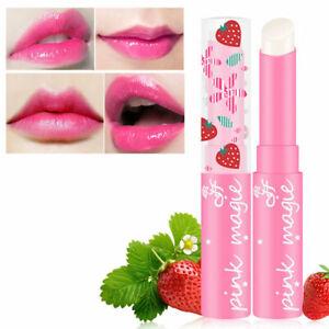 Strawberry Flavor Lip Balm Temperature Changing S3N1 Bal Moisturizer I0X8