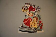 Fun Vintage Valentine's Day Card You Give My Heart A Lift