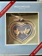 New Wedgwood 2017 Our First Christmas Together Ornament Doves Heart 1st - Nib