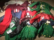 26 Vintage Windless USA Satin Nylon Jacket Lot Button Pullover Pants Mixed Sizes