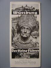 Ancien dépliant touristique  Guide de WURZBOURG Würzburg