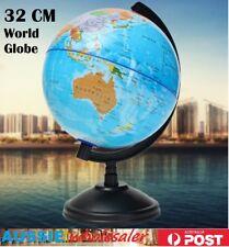 32cm Swivel Stand Rotating World Globe Geography Educational Student Kids Gift