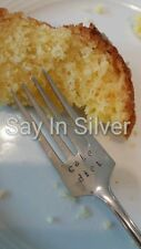 Cake fork-vintage silver plated personalised- gift,upcycled,birthday,wedding
