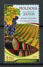 Moldova 2018 MNH World Capital Wine Tourism 1v Set Drink Plants Nature Stamps
