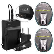 2 Battery Packs EN-EL15 + Charger for Nikon D600 D610 D750 D800 D810 D7000 D7100