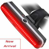 USB Rechargeable Bicycle Taillight Rear LED Helmet Bike Cycling Safe Flashlight