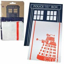 New Doctor Who TARDIS & Dalek Tea Towel 2 Pack Homeware Dishcloth BBC Official