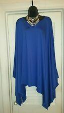 NEW WOMENS BLUE OVERSIZED TUNIC, PONCHO ,TOP OR MINI DRESS.. L/XL