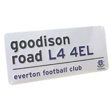 EVERTON FC METAL STREET SIGN NEW GOODISON ROAD FOOTBALL