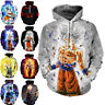 Dragon Ball Z Pullover Sweatshirts Son Goku Vegeta 3D Hoodie Outwear Sweater Top