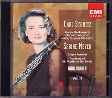 Sabine MEYER: Carl STAMITZ 4 Clarinet Concerto CD Sergio Azzolini Iona Brown EMI