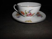 Rosenthal  Balmoral 1 Teetasse  / Kaffeetasse & Untertasse  bunte Blume