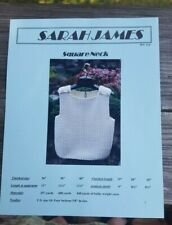 Sale! Rare Knitting Pattern: Square Neck Vest By Sarah James (last one)!