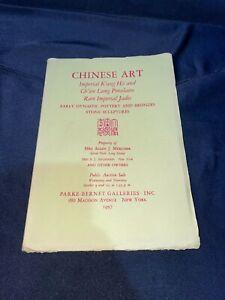"""Chinese Art"" 1957 Parke-Bernet Auction Catalog ~ Pottery/Bronze/Stone Sculpture"