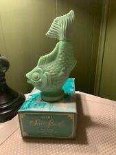 Avon Sea Spirit Fish Foaming Bath Oil Decanter with Original Box - Empty