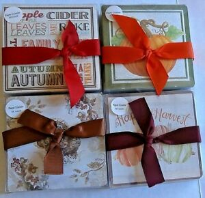 FALL PAPER COASTER ASSORTMENT 50 Ct. Double Sided/Two Scenes {Your Choice}