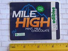 Cool Legal Marijuana STICKER: COLORADO IncrEdibles Mile High THC Chocolate Ganja