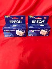 Lot Of Two EPSON Color Ink Cartridge 720/1440 NIB Epson Stylus Photo 750 Expired