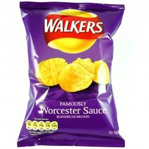 Walkers Worcester Sauce Crisps 32.5 g x 32 packets