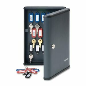 STEELMASTER Security 30-Key Capacity Cabinet 8.7 x 2.7 x 11.9 Inches Charcoal...