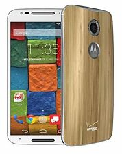 Motorola Moto X 2Nd Gen XT1096 16GB 4G LTE Smartphone - White Front/Wood Rear