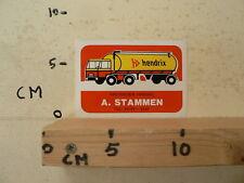 STICKER,DECAL HENDRIX VEEVOEDER HANDEL A. STAMMEN TRUCK