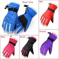 Women Winter Warm Full Finger Sports Windproof Waterproof Ski Snowboard Gloves