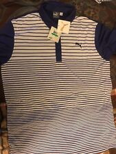 New with tags. Mens Large Puma Dry Cell Golf Polo NWT. Purple and white