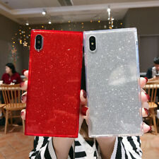 Bling Glitter Square Phone Case Cover For iPhone 6 6s 7 8 Plus XS 11 Pro MAX XR
