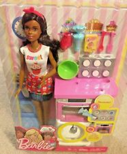 You Can Be Anything Barbie Chef Baker Playset African American Doll New 2017
