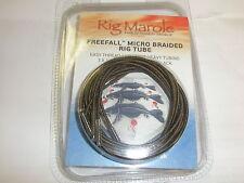 Rig Marole Freefall Micro Braided Tubing 1m 3pk Brown / Black Carp fishing