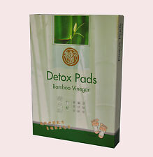 Bamboo Vinegar Foot Pads Detox Patch Detoxify Adhesive 10 Pads Chinese Herbal