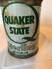 Quaker State Sterling Motor Oil Can  Full All Metal