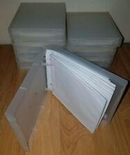 Lot Of 10 Clear Unikeep Dvd Cd Wallet Case Each Wallet Has 10 Inserts