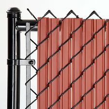Chain Link Redwood SoliTube™ Max-Privacy Slat For 6-ft Fence Bottom Lock