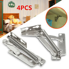 4Pcs Sprung Hinges Cabinet Door Lift Up Stay Flap Top Support Cupboard Kitchen