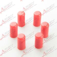 "6PCS 19mm 3/4""Silicone Blanking Cap Intake Vacuum Hose End Bung Plug Cap Red"