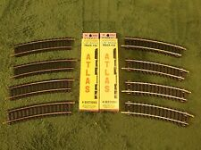 "NOS MINT In Box 18"" R 1/2 Atlas Code 100 Brass Railroad Train Track Sections"