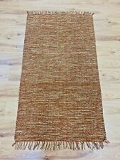 Brown Beige Eco Friendly Cotton Rich Washable Reversible Durrie Rugs 90x150cm