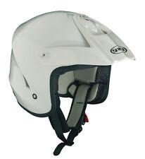 Spada Edge Trials Open Face Motorbike Motorcycle Scooter Helmet White L
