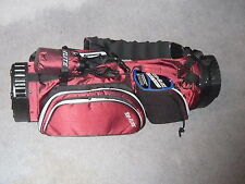 New Spalding red & black golf bag never used perfect condition with stand