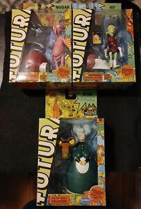 Lot of 3 Futurama Toynami Kif Nudar & Mom BAF 2008 Sealed RARE