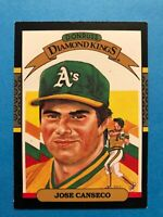 Jose Canseco  1987 Donruss  Diamond Kings Baseball Card #6 Oakland Athletics