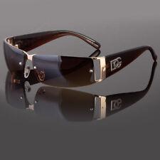 New DG Mens Womens Rectangular Rimless Designer Sunglasses Shades Eyewear Wrap