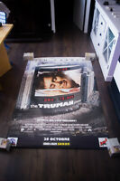 THE TRUMAN SHOW Jim Carrey 4x6 ft Bus Shelter Vintage Movie Poster Original 1998
