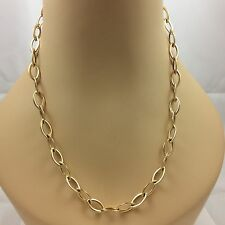 """14K YELLOW GOLD LINK NECKLACE 24"""""""