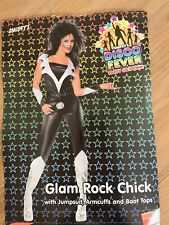 Disco Fever Glam Rock Chick  female Jumpsuit Smiffys Small Fancy Dress