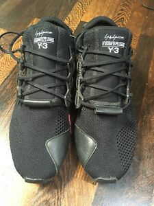 Mens Y3 Black Trainers Size 8