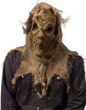 Halloween Gunny Sack Scarecrow Mask Natural Spooky Pumpkin Cornfield Butcher