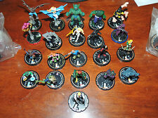 Heroclix Lot of 24 Figures Dc Assorted 2002-2005 Gold Bronze Ring Very Rare Le